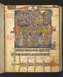 Scenes From The Passion Of Christ, In 'The De Brailes Hours' f.1r